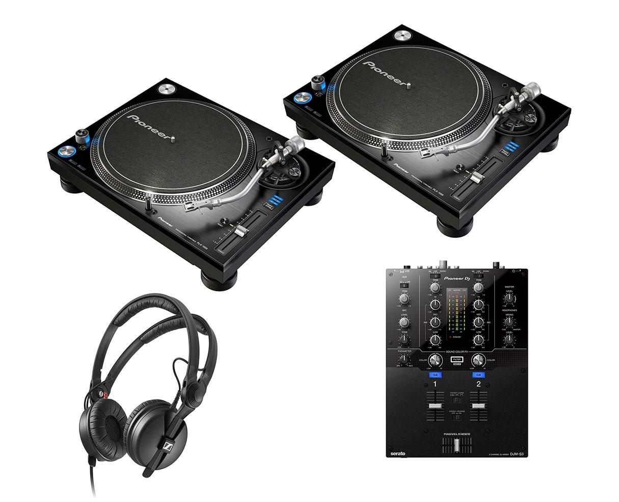 2x Pioneer PLX-1000 + DJM-S3 + HD 25