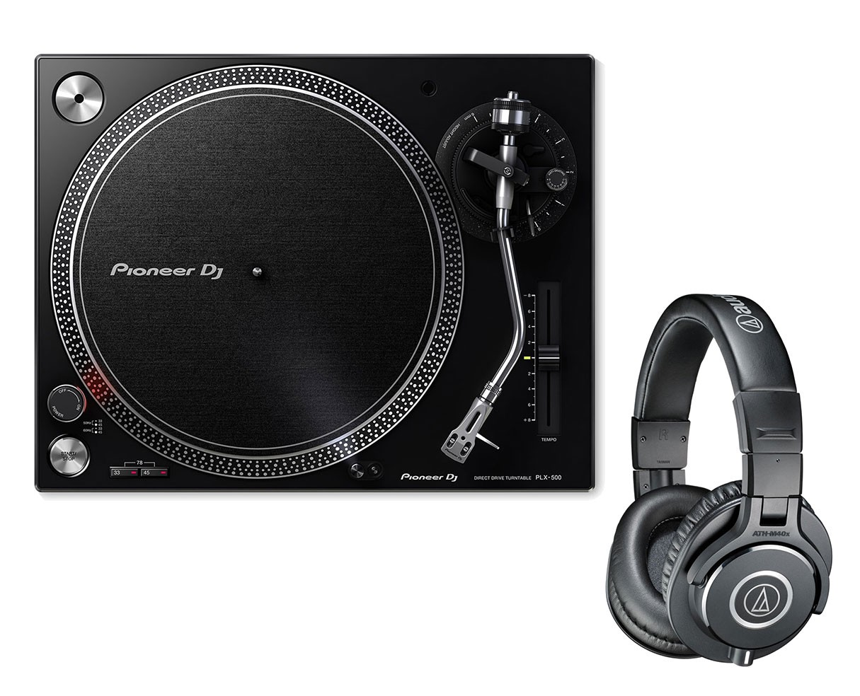 Pioneer PLX-500 + Audio-Technica ATH-M40X
