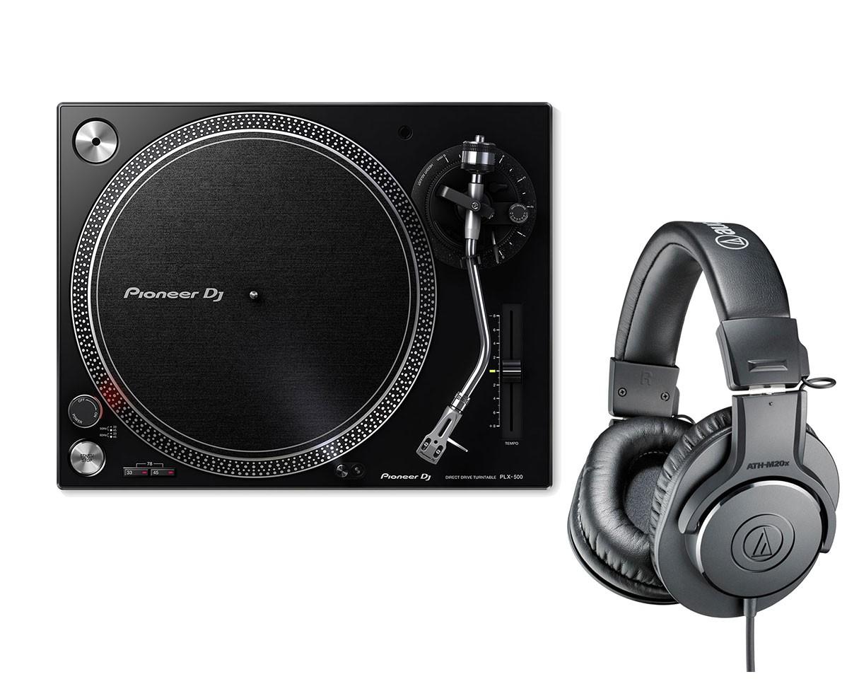 Pioneer PLX-500 + Audio-Technica ATH-M20X
