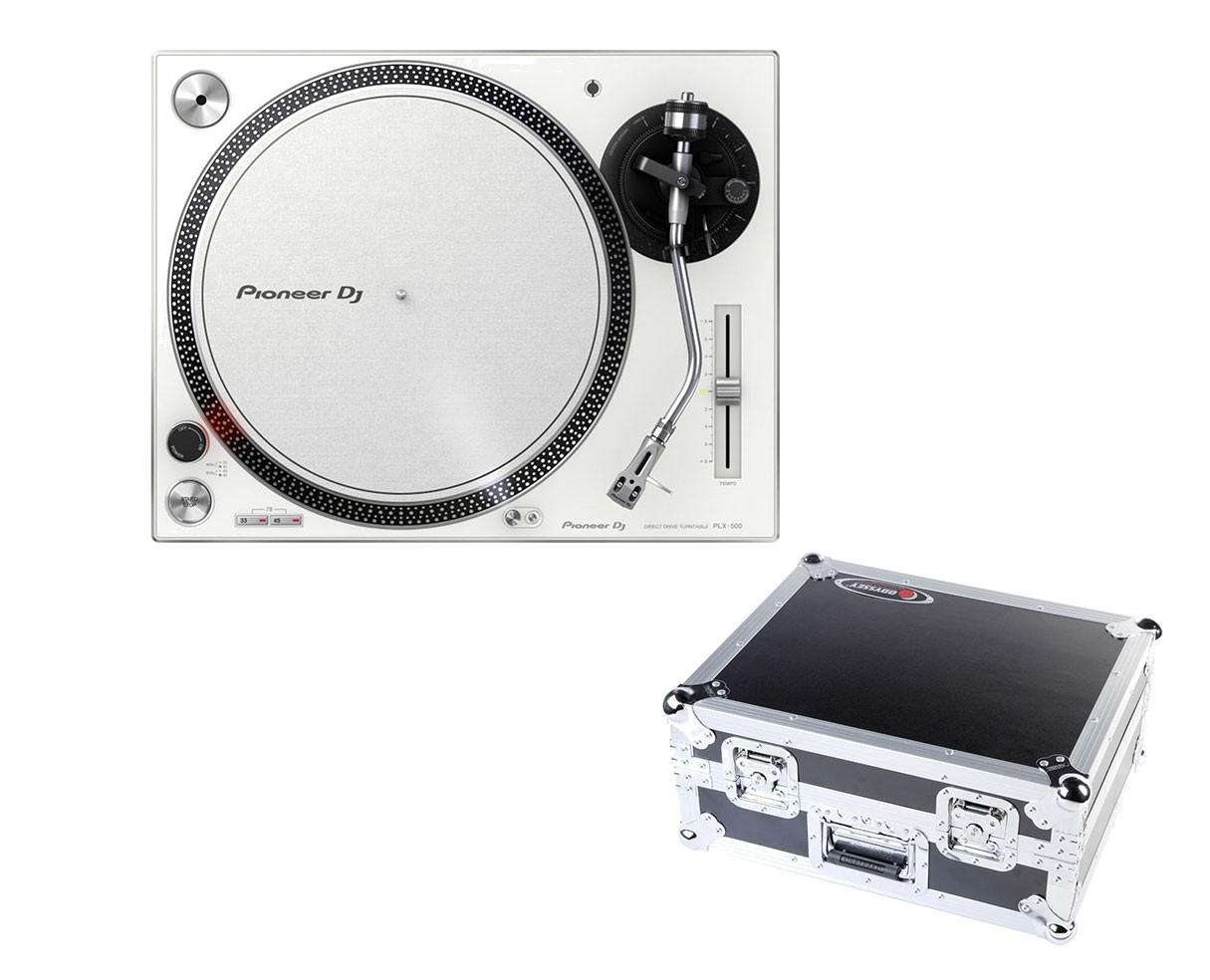Pioneer PLX-500 (White) + Odyssey Case