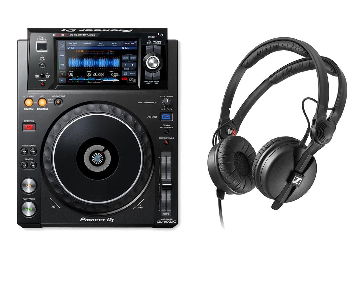 Pioneer XDJ-1000MK2 + Sennheiser Headphones