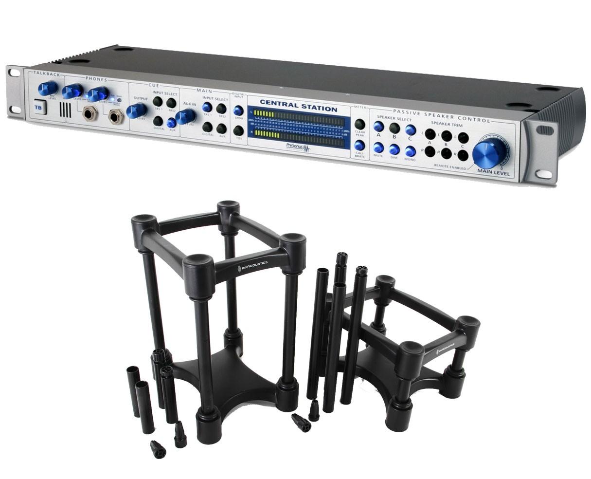 PreSonus Central Station Plus + Iso Acoustics L8R155