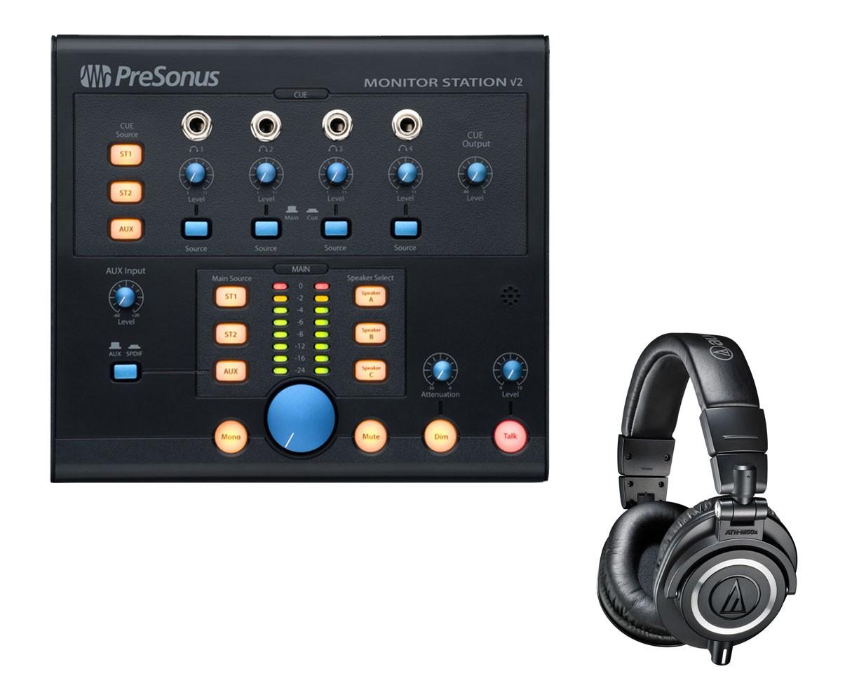 PreSonus Monitor Station V2 + ATH-M50X