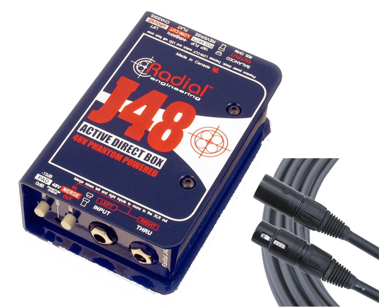 Radial J48 + Mogami XLR Cable