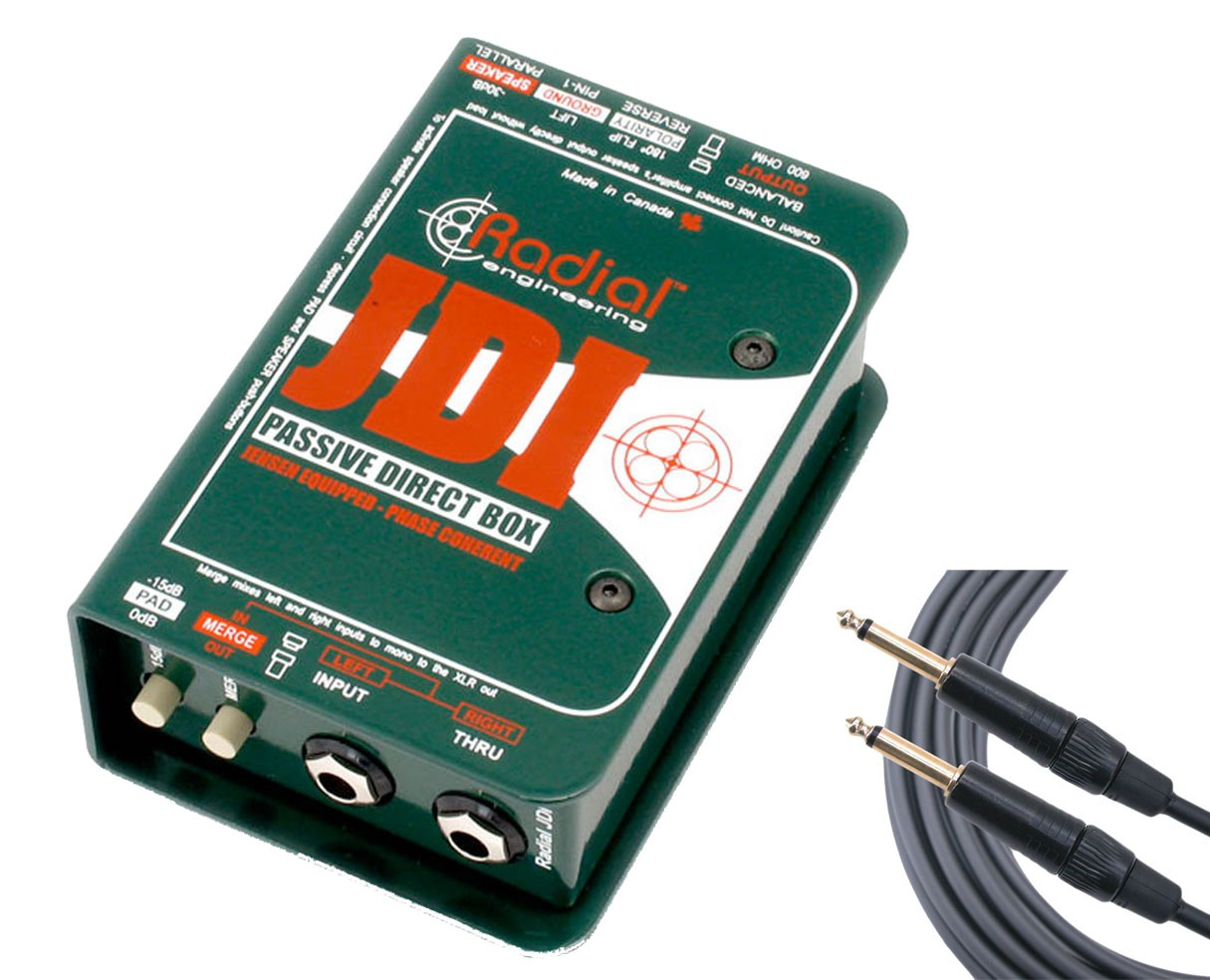 Radial JDI + Mogami Instrument Cable