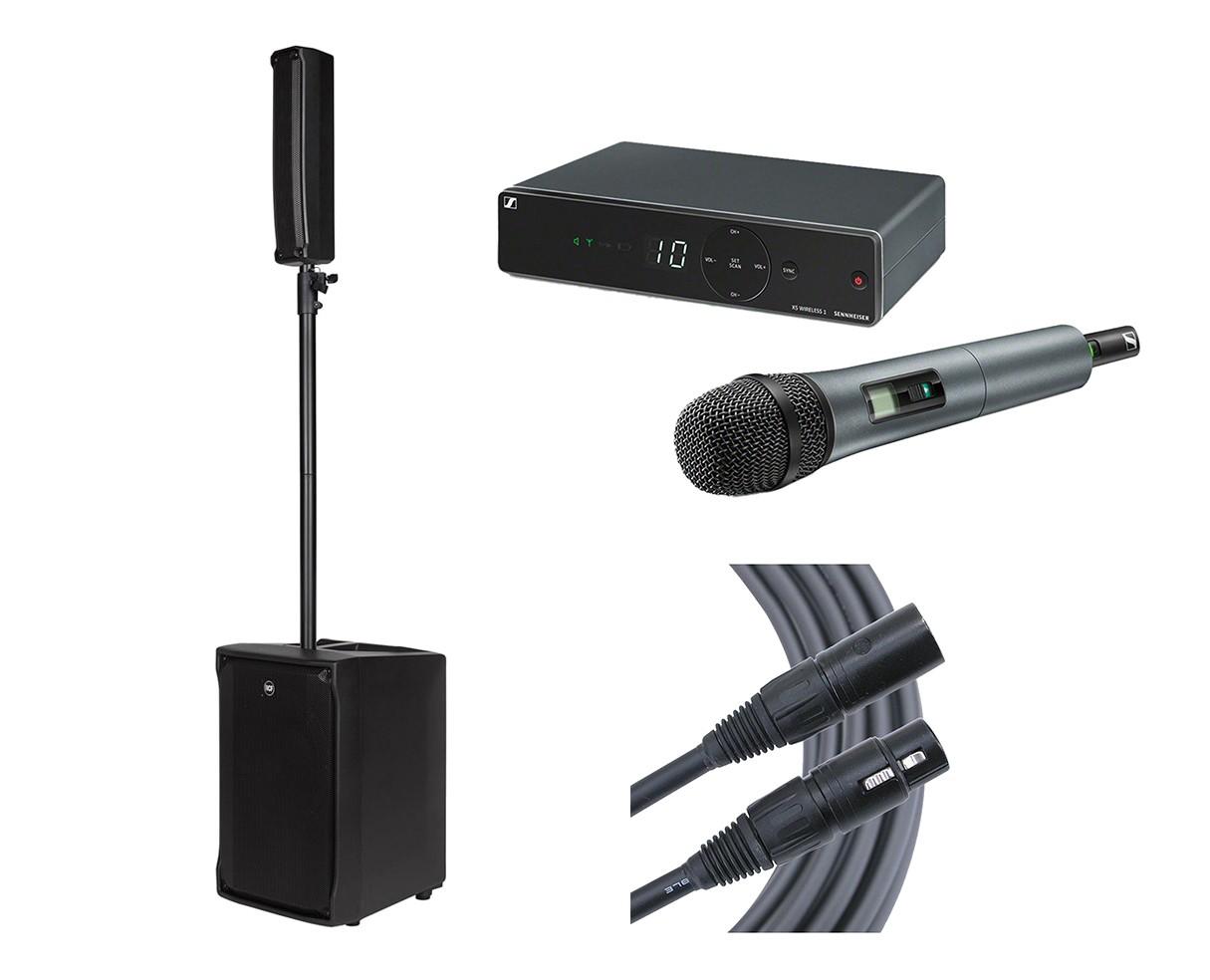 RCF EVOX JMIX8 + Sennheiser XSW 1-835 + Mogami Cable
