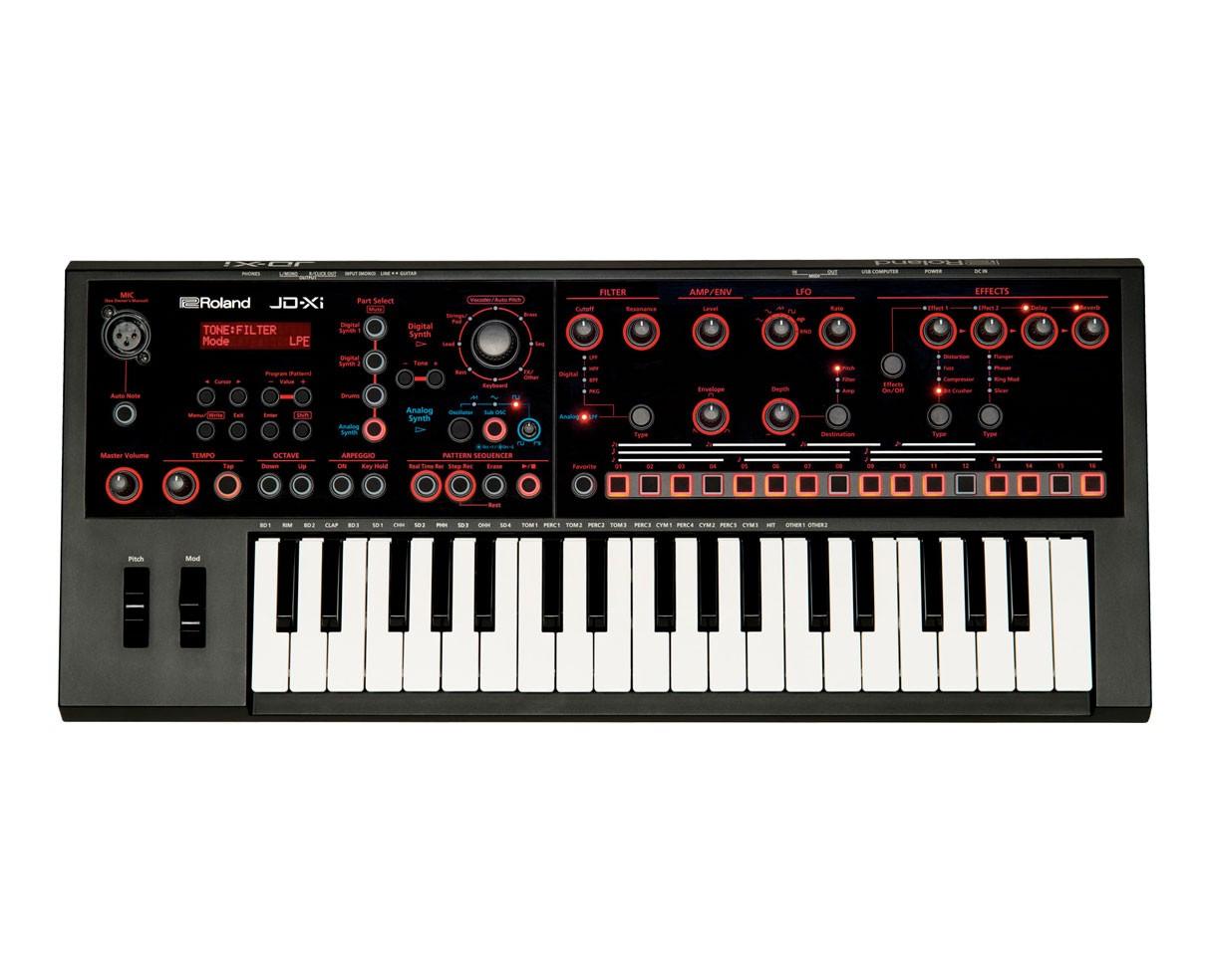 Roland JD-Xi Synthesizer Keyboard Used