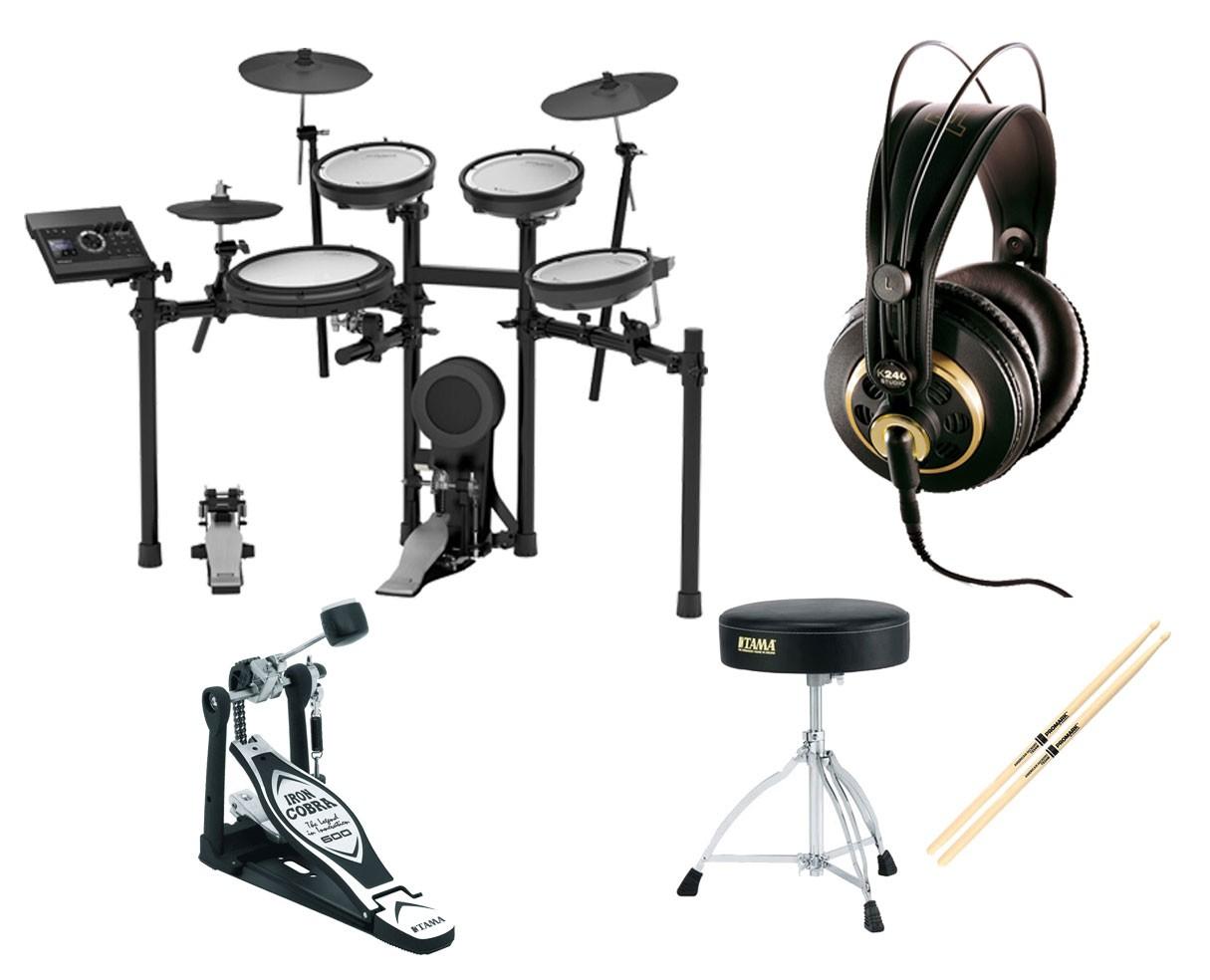 Roland TD-17KVS Electronic Drum Set + Kick Pedal + Throne + Headphones + Sticks
