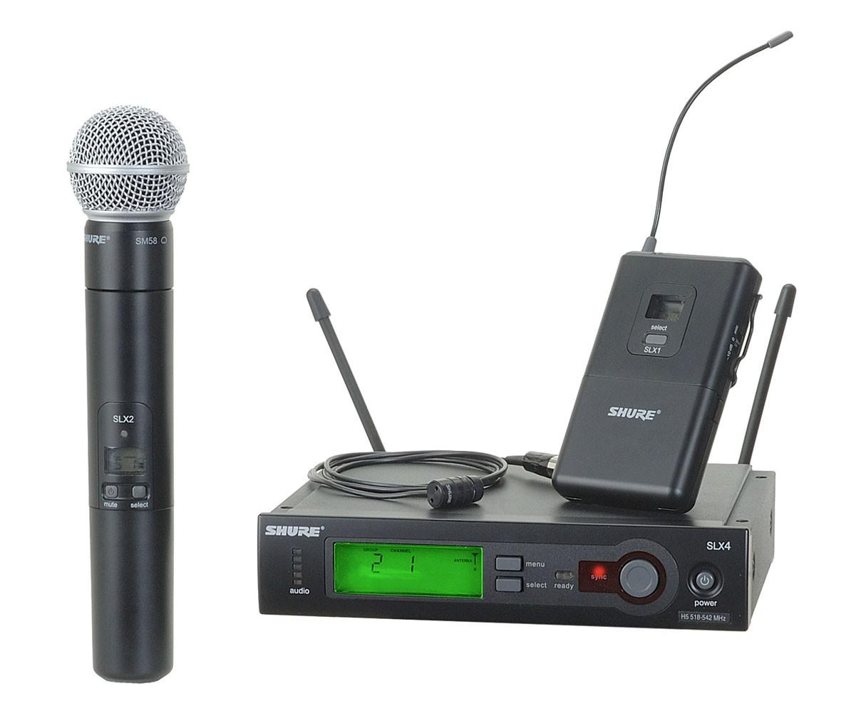 Shure SLX124/85/SM58 (Band H19)