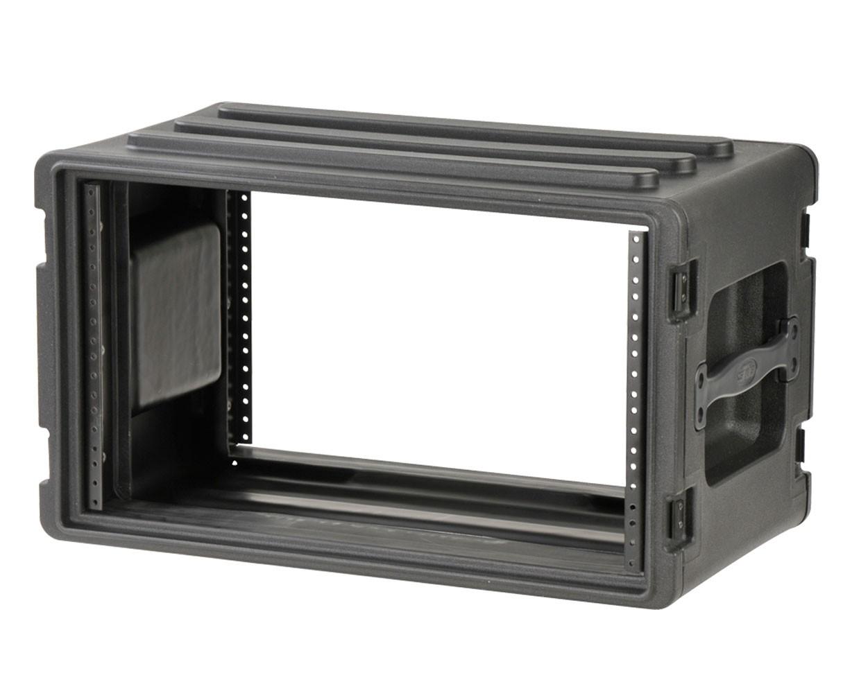 SKB 1SKB-R6S Portable Roto Molded 6U Shallow Rack