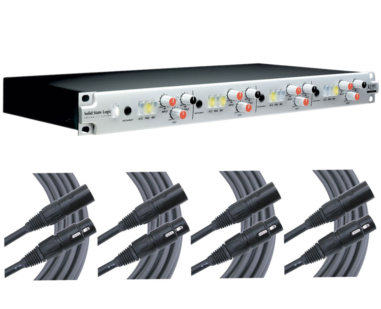 Solid State Logic Alpha VHD 4-Channel + 4x 25' Mogami Cables
