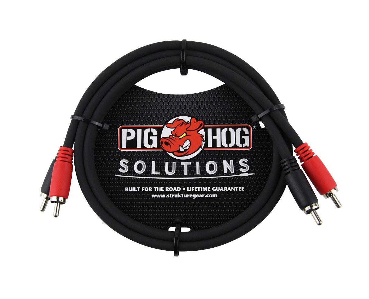 Pig Hog PD-RCA06 6ft RCA-RCA Dual Cable