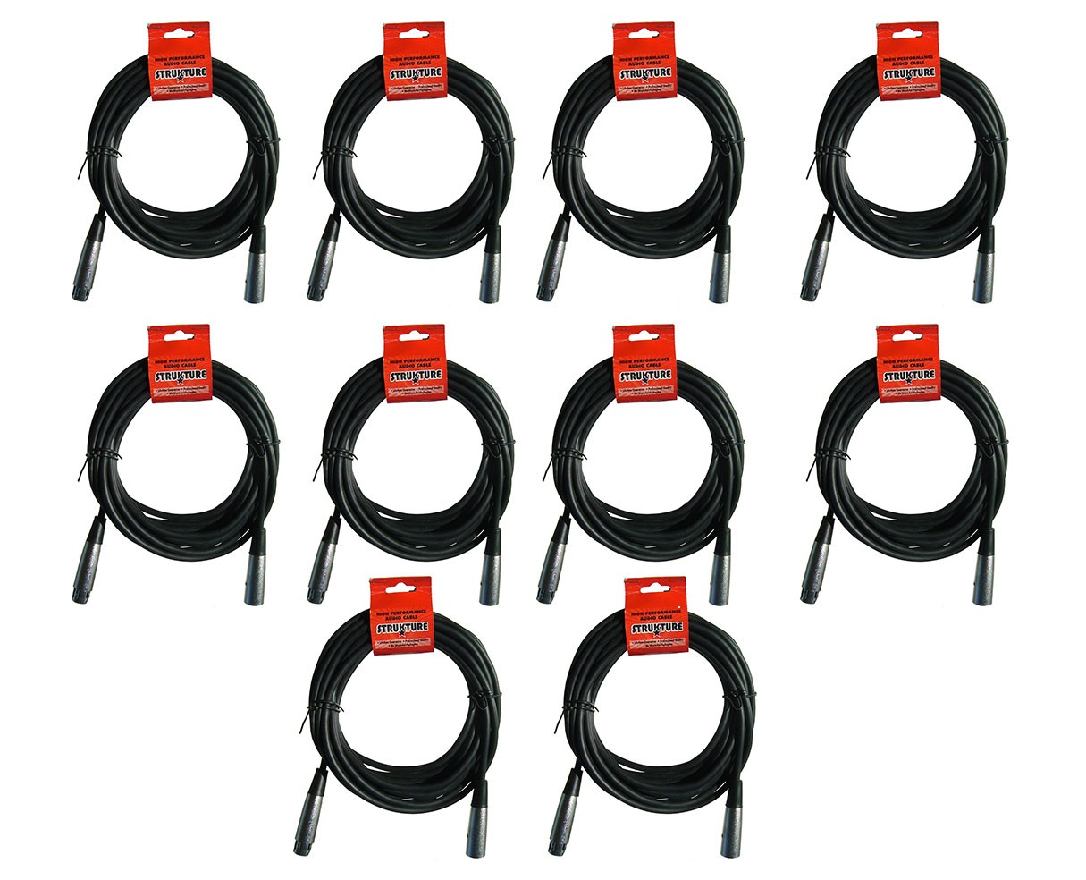 Strukture SMC20 20ft XLR Mic Cable (10-Pack)