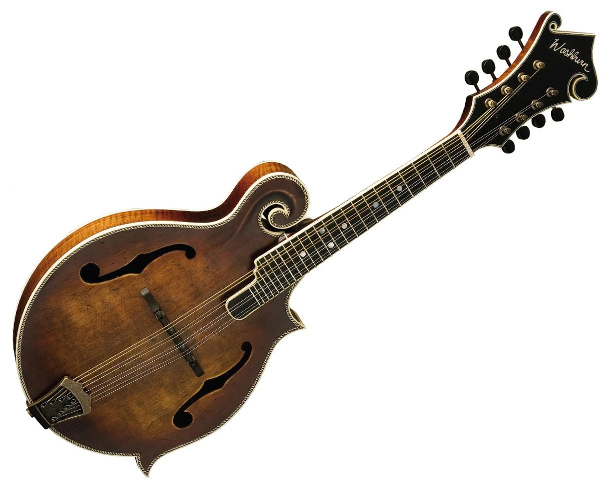Washburn M118SWK Vintage Florentine Mandolin Natural with Case