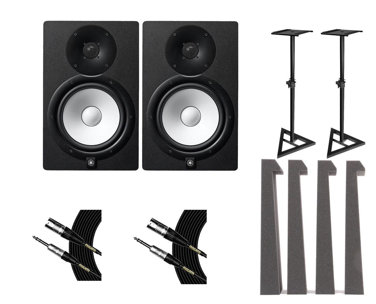 2x Yamaha HS8 + Stands + Mopads + Mogami Cables