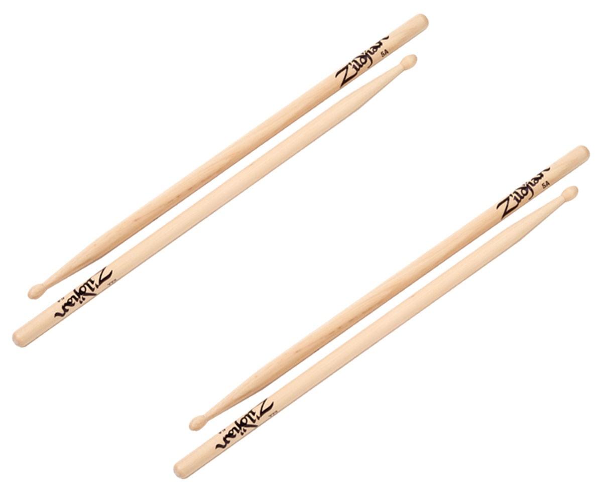 ZIldjian 5AWN - 5A Wood Natural 2-PACK