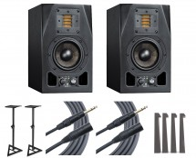 2x ADAM A3X + Stands + MoPADs + Mogami Cables