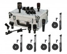 Audix DP5-A 5 Drum Mic Pack + 5x Mic Stands w/ Cables