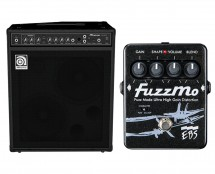 "Ampeg BA-210 V2 Amplifier 2x10"" 450w Bass Combo Amp + EBS Pedal FM-DISC Fuzz Mo Pedal"