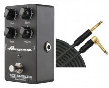 Ampeg Scrambler Bass Overdrive + Mogami Cable