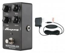 Ampeg Scrambler Bass Overdrive + Power Supply