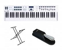 Arturia Keylab 61 Essential + Sustain Pedal + Keyboard Stand