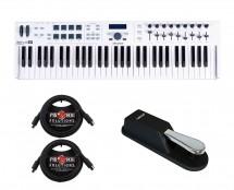 Arturia Keylab 61 Essential + Sustain Pedal + MIDI Cables