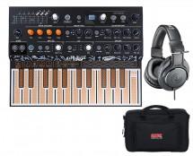 Arturia MicroFreak Hybrid Synthesizer + Gig Bag + Studio Headphones