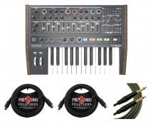 Arturia Minibrute 2 + Mogami Instrument Cable + MIDI Cables