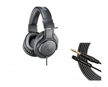 Audio-Technica ATH-M20X + Mogami Extension Cable