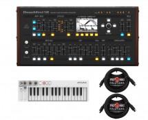 Behringer Deepmind 12D Desktop + Arturia Keystep + MIDI Cables