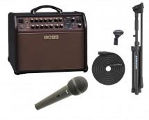 Boss ACS-Live Acoustic Singer Amp + Samson MK-10X + CAD CAD12 Microphone