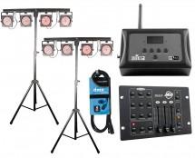 2x CHAUVET DJ 4BAR USB + D-Fi Hub + RGB3C IR + Cable