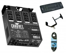 Chauvet DMX-4 + DMX Operator + Clamp + Cable
