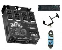 Chauvet DMX-4 + DMX Operator 384 + Clamp + Cable
