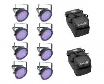 8x Chauvet EZpar 64 RGBA + Arriba Cases
