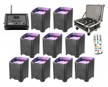 9x Chauvet Freedom Par Quad-4 + Freedom Charge 9 + D-Fi Hub