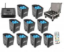 9x Chauvet Freedom Par Tri-6 + Freedom Charge 9 + D-Fi Hub