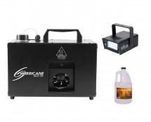 CHAUVET DJ Hurricane Haze 1DX + Strobe Light + Haze Fluid