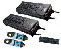 2x Chauvet Pro-D6 + DMX Operator 384 + Cables
