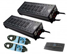 2x CHAUVET DJ Pro-D6 + DMX Operator Pro + Cables