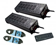 2x CHAUVET DJ Pro-D6 + DMX Operator + Cables