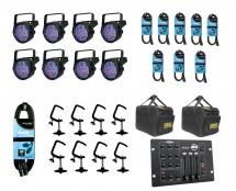 8x CHAUVET DJ SlimPAR 56 + Bags + Clamps + Controller + Cables