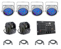 4x CHAUVET DJ SlimPAR 56 (White) + Controller + Cable + Bag