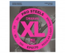 D'Addario EPS170XL ProSteels Light Gauge/Long Scale Electric Bass Strings