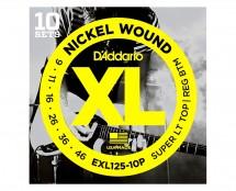 D'Addario EXL125-10P Propack LX Superlite/Reg Electric Guitar Strings 10-Pack