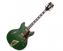 D'Angelico Deluxe DC w/ Stairstep Tailpiece Matte Emerald