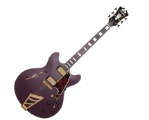 D'Angelico Deluxe DC w/ Stairstep Tailpiece Matte Plum