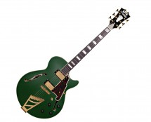 D'Angelico Deluxe SS w/ Stairstep Tailpiece Matte Emerald