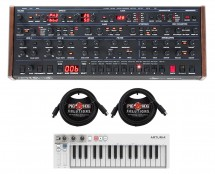 Dave Smith OB-6 Module + Arturia Keystep + Midi Cables